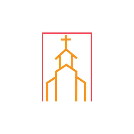 church christian line art  design,Christian symbols.