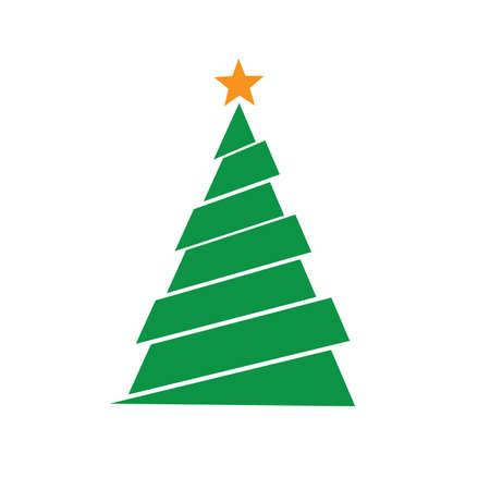 Christmas tree Vector Illustration.