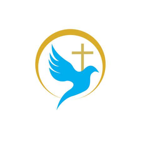 church christian line art design,Christian symbols. Illustration