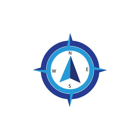 Compass Template vector icon illustration design