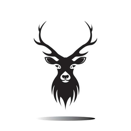 Jeleń szablon wektor ikona ilustracja projekt