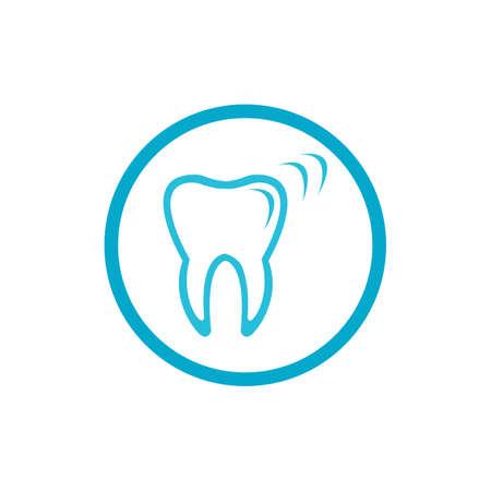 Progettazione dentale dell'icona dell'illustrazione di vettore del modello di logo