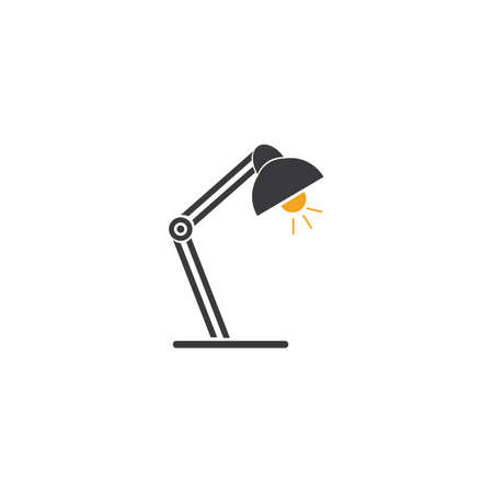 able lamp glyph icon. Desk lamp. Silhouette symbol. Negative space. Vector isolated illustration