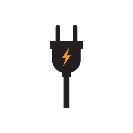 electrical plug Logo Template vector icon illustration design