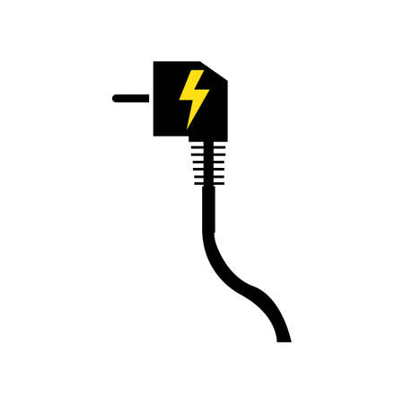 electrical plug Logo Template vector icon illustration design