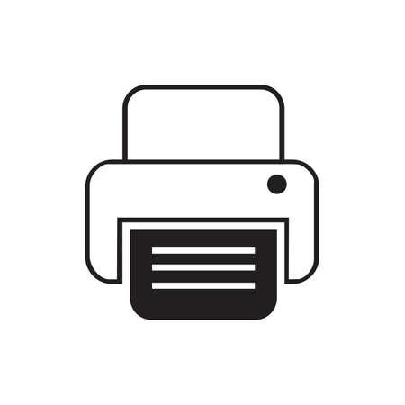 fax machine Logo Template vector icon design
