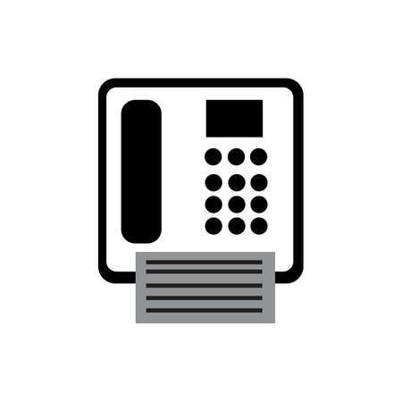 fax machine Logo Template vector icon design