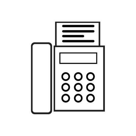 fax machine Logo Template vector icon design Logo