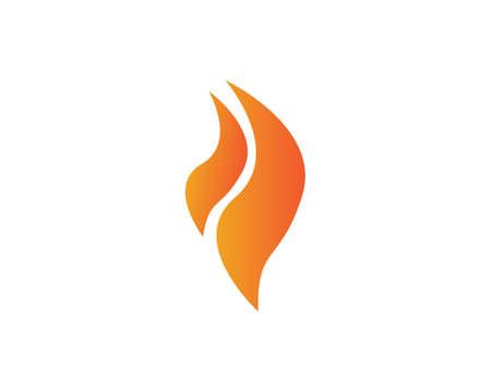 Feuer mit Flamme und Feuer mit Flamme Logo - Vektor