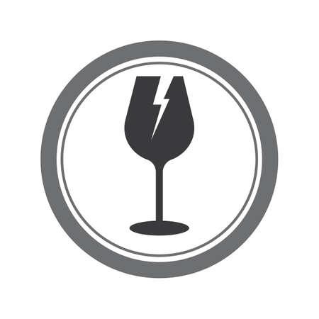 fragile glass - vector icon