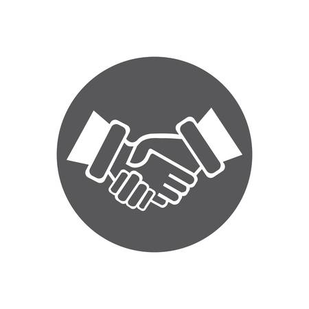 Hand Shake logo template