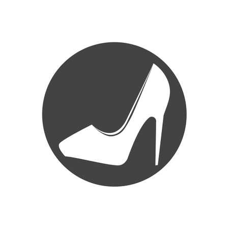 High Heels Frau Schuhe Symbol flach. Illustration isoliertes Vektorzeichensymbol Vektorgrafik