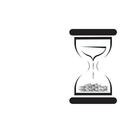 Hourglass logo Icon Vector Illustration design template Logó