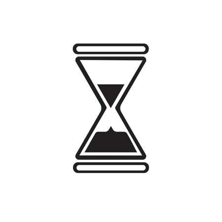 Modèle de conception de logo de sablier icône Vector Illustration Logo