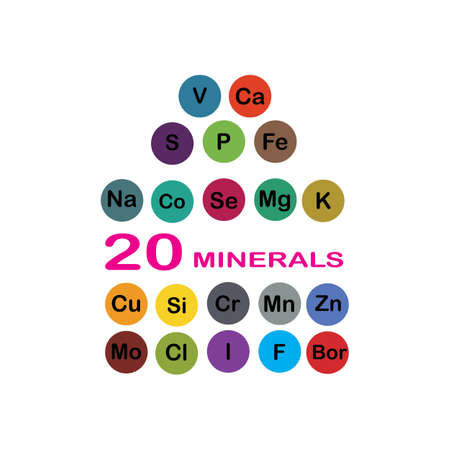 minerals microelements and macro elements, useful for human health. Fundamentals of healthy eating and healthy lifestyles.