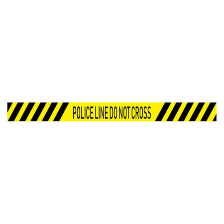 Black and yellow police stripe Vector illustration design