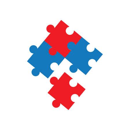 Ilustración de diseño de icono de vector de rompecabezas de juego