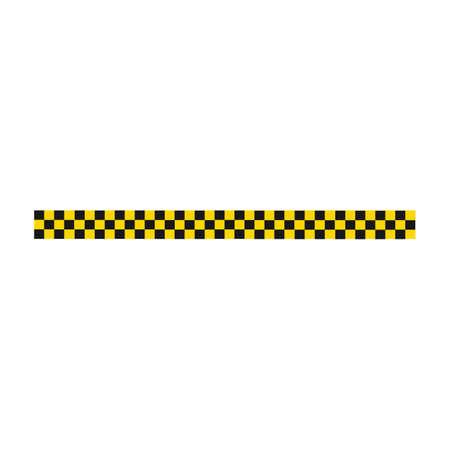 Striscia di polizia nera e gialla Disegno di illustrazione vettoriale Vettoriali