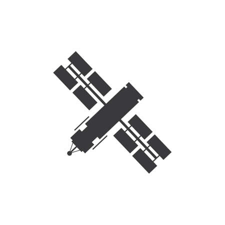 Satellite icon, transmission vector illustrationsatellite vector icon, satellite communication icon in trendy flat design