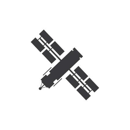 Satellitensymbol, Übertragungsvektorillustrations-Satellitenvektorsymbol, Satellitenkommunikationssymbol in trendigem, flachem Design