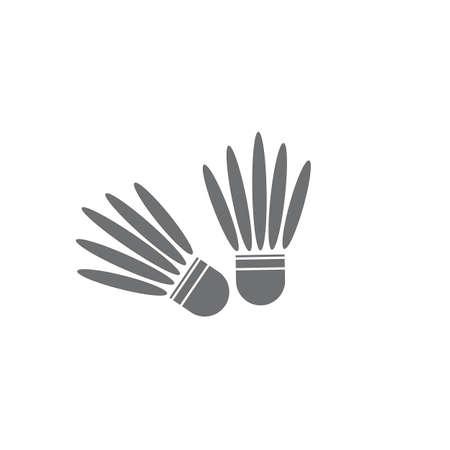 Shuttlecock vector illustrationBadminton Logo Icon Template