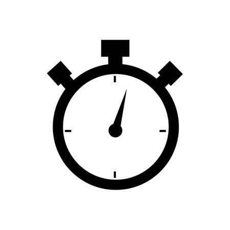 Stoppuhr / Stoppuhr-Timer-Logo-Symbol-Vektor-Illustration-Design-Vorlage Logo