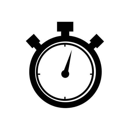 Stopwatch / stopwatch timer logo pictogram vector illustratie ontwerpsjabloon Logo