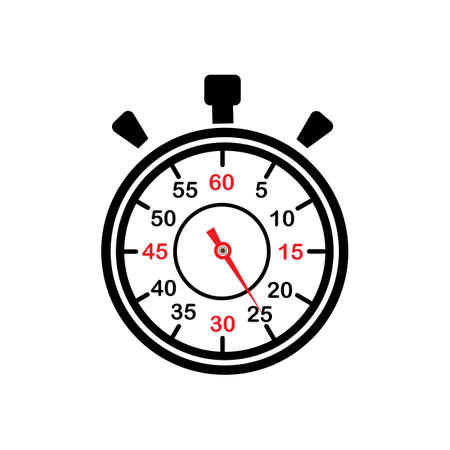 Stopwatch  stop watch timer logo icon vector illustration design template