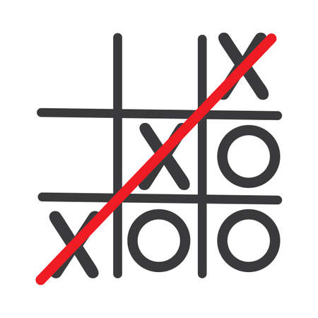 Tic Tac Toe Game  Vector illustration icon template  design