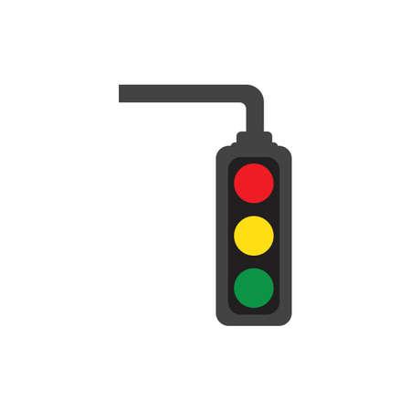 Traffic Light Icon Vector Design Template Traffic light signal - Vector icon Иллюстрация