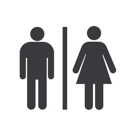 wc/toilet man women icon vector design template Vetores