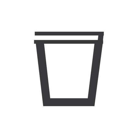 trash can icon vector illustration Illustration