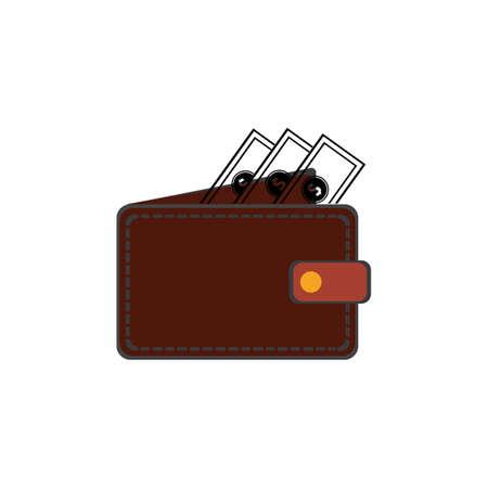 wallet icon vector illustration template Çizim