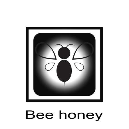 Bee logo vector icon illustration 矢量图像