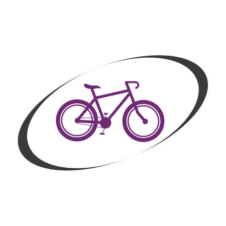 Bicycle logo vector icon template design