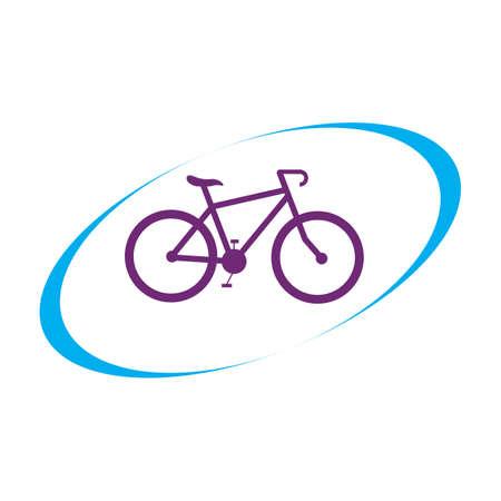 Bicycle logo vector icon template design