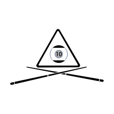 Billiard logo template vector icon design - Vectorbilliard balls icon Vector illustration design template - Vector Illustration