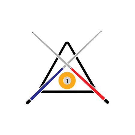 Billiard logo template vector icon design - Vector billiard balls icon Vector illustration design template - Vector Archivio Fotografico - 135644599