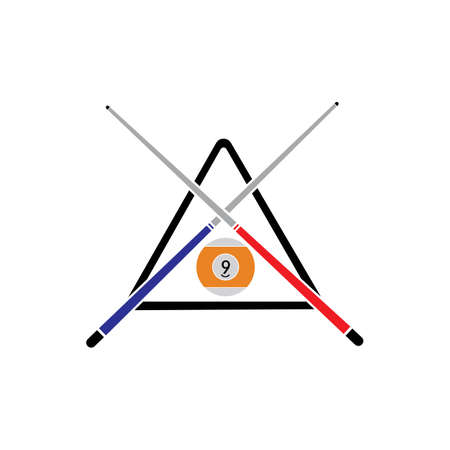 Billiard logo template vector icon design - Vector billiard balls icon Vector illustration design template - Vector Archivio Fotografico - 135644610