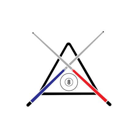Billiard logo template vector icon design - Vector billiard balls icon Vector illustration design template - Vector