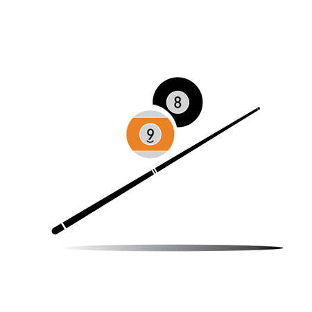 billiard logo icon Vector illustration design template - Vector