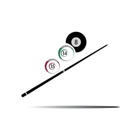 billiard logo icon Vector illustration design template - Vector
