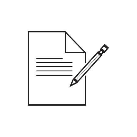 Documents icon stock vector illustration flat design Ilustracja
