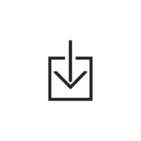 Download icon vector symbol illustration design template 일러스트
