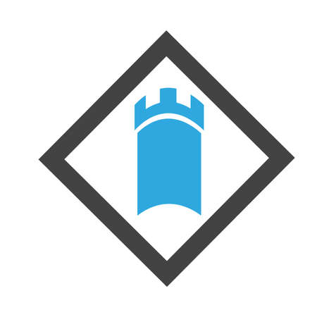Castle vector illustration icon Logo Template design