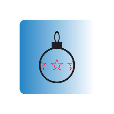 the vector image of merry christmas ornament illustration Ilustrace