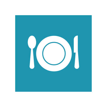 Cutlery vector icon illustration sign Cutlery and Kitchen Set Icon Design Template Ilustracje wektorowe