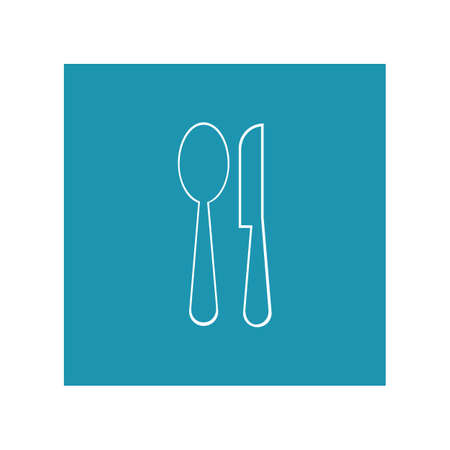 Cutlery vector icon illustration sign Cutlery and Kitchen Set Icon Design Template  イラスト・ベクター素材