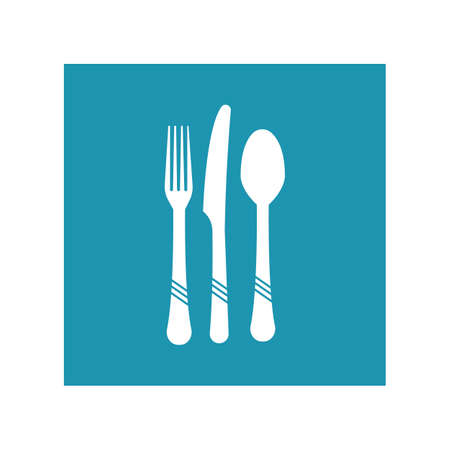 Cutlery vector icon illustration sign Cutlery and Kitchen Set Icon Design Template Illustration