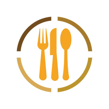 Cutlery vector icon illustration sign Cutlery and Kitchen Set Icon Design Template